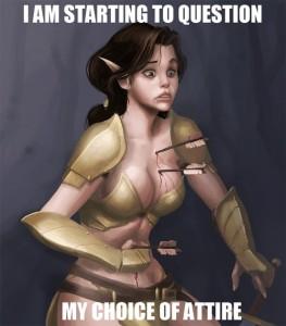 Skimpy Armor Regret Decision