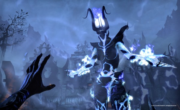 Flame atronachs are one of many daedric enemies which stream forth from Coldharbour.